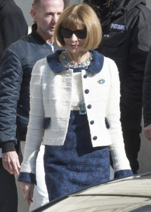 Anna Wintour - Leaves the Chanel Fashion Show 2016 in Paris