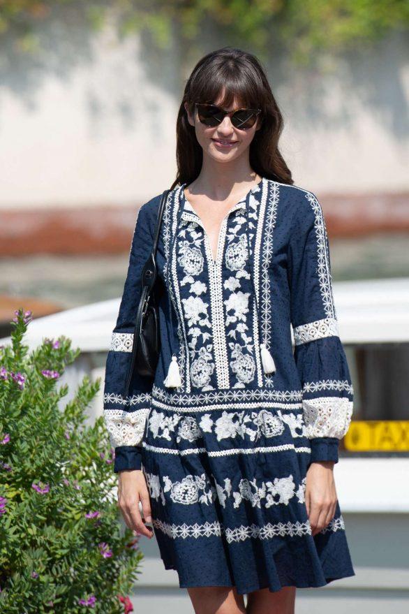 Annabelle Belmondo arriving at the 76th Venice Internatinal Film Festival