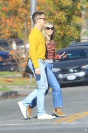 Annabelle Wallis and Chris Pine - Out in Hollywood