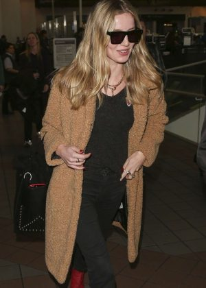 Annabelle Wallis at LAX International Airport in LA