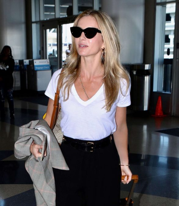 Annabelle Wallis departs from LAX