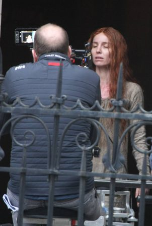 Annabelle Wallis - Filming set for the new film 'The Silence Of Mercy' in Dublin