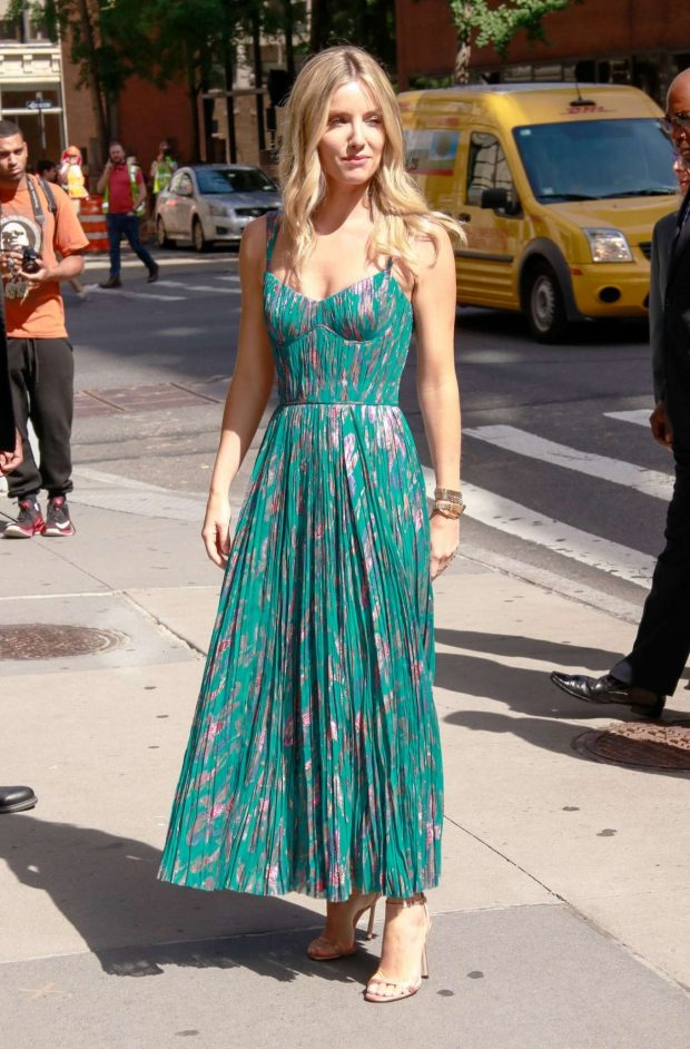 Annabelle Wallis in Green Dress - Out in New York City