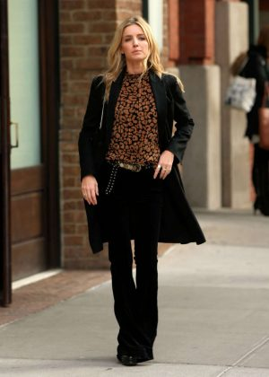 Annabelle Wallis Leaves Greenwich Hotel in New York