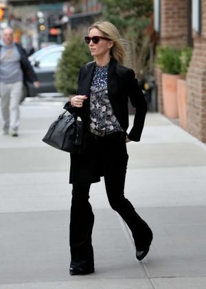 Annabelle Wallis - Leaving the Greenwich Hotel in New York