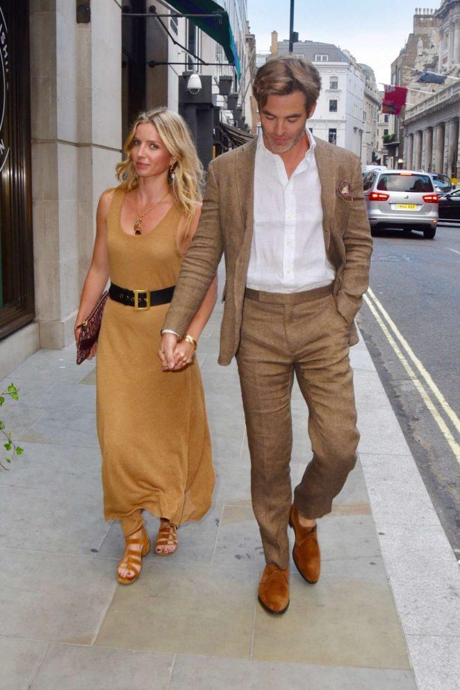 Annabelle Wallis on date night in London