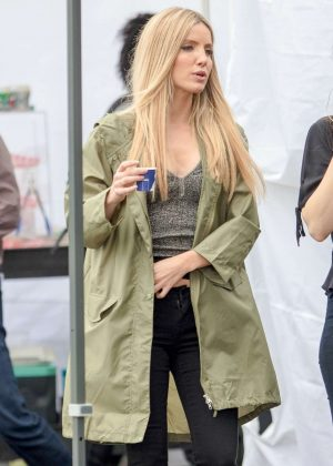 Annabelle Wallis - On the set of 'Boss Level' in Atlanta