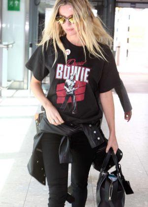 Annabelle Wallis Seen Leaving Heathrow Airport in London