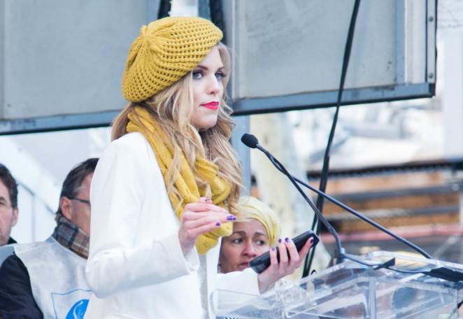 AnnaLynne McCord: 2015 International Womens Day March -10