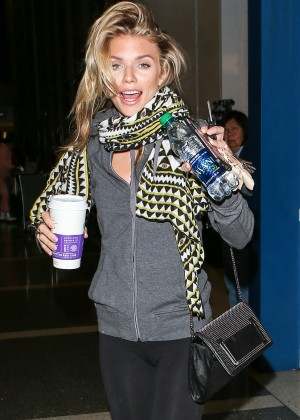 AnnaLynne McCord in Tights at LAX Airport in LA