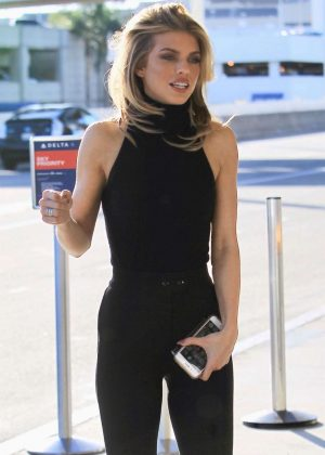 Annalynne Mccord - Arriving at LAX Airport in LA