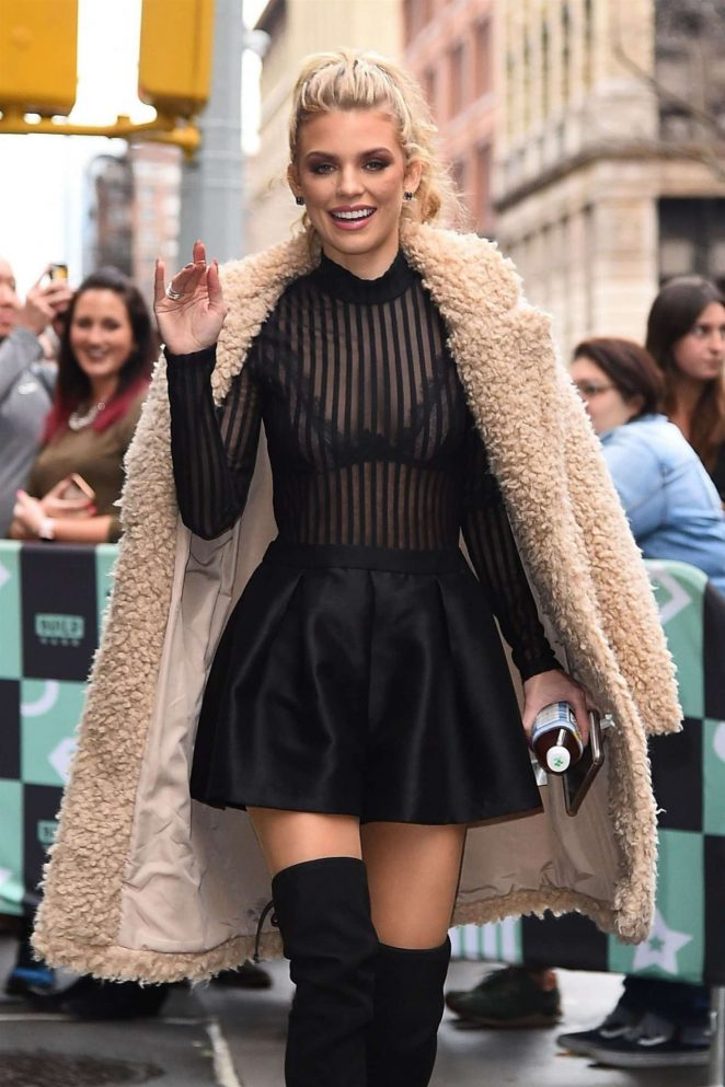 AnnaLynne McCord - Arriving at the AOL Build Studios in NYC