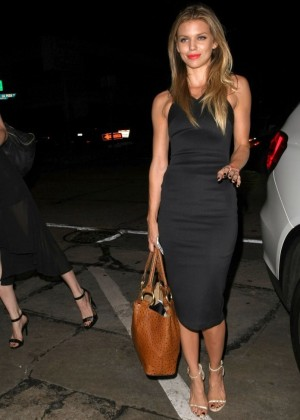 AnnaLynne McCord in Tight Dress at Craig's in West Hollywood