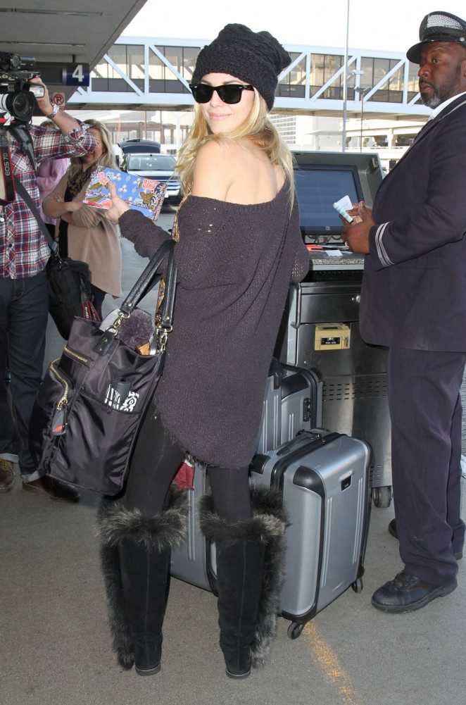 AnnaLynne McCord at LAX Airport in Los Angeles