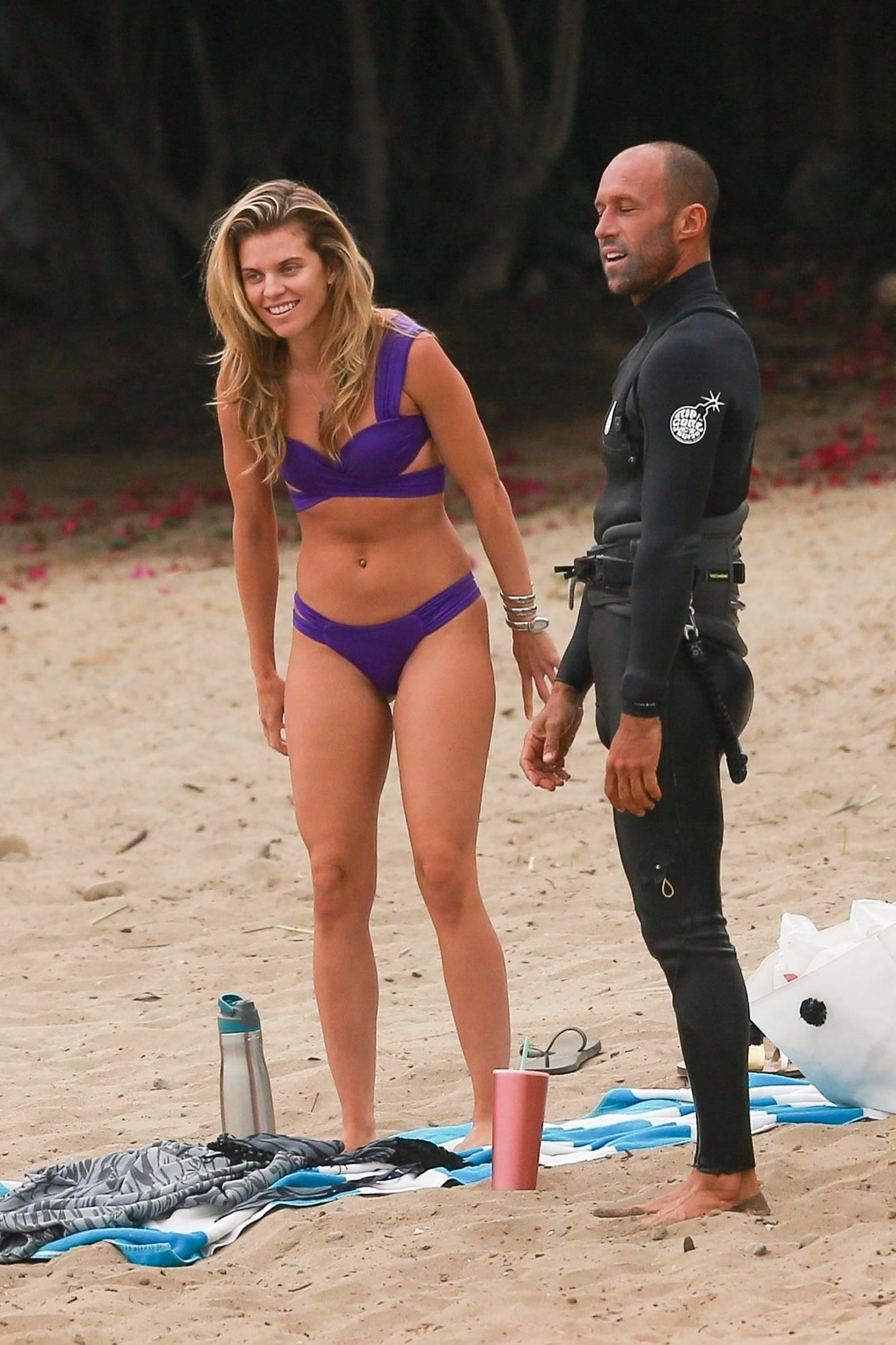 AnnaLynne McCord - Bikini candids on the beach in Huntington Beach