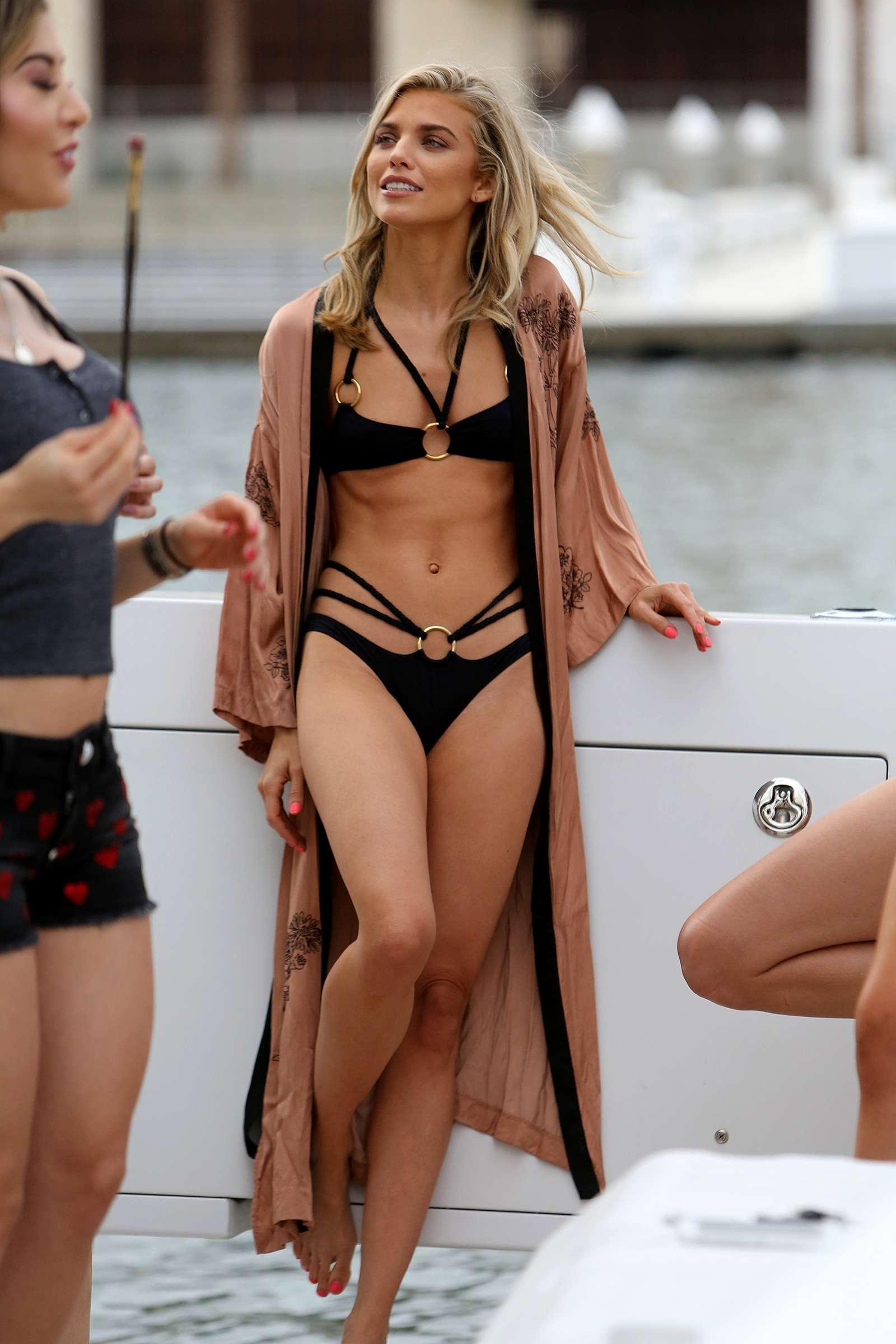 Annalynne McCord in Black Bikini in Los Angeles