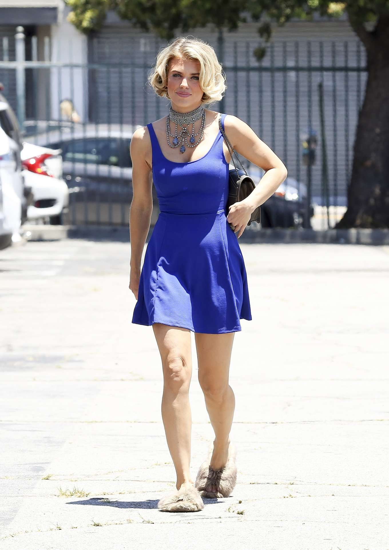 AnnaLynne McCord 2019 : AnnaLynne McCord in Blue Mini Dress-03