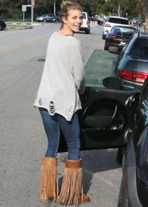 AnnaLynne McCord in Jeans out in Beverly Hills