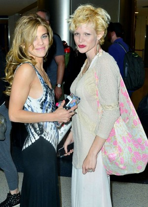 AnnaLynne McCord - Picks Up Her Sister Angel McCord at LAX Airport in LA
