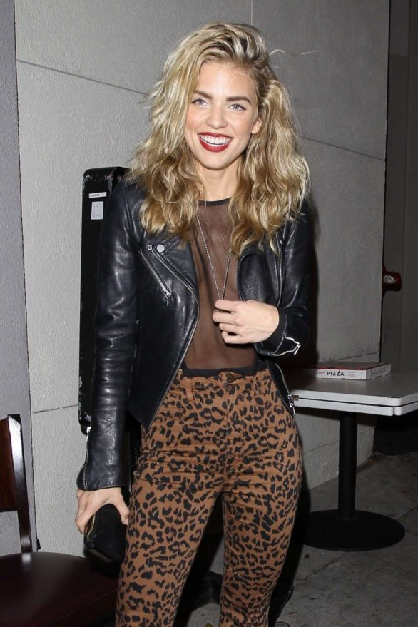 AnnaLynne McCord posing at Craig's in West Hollywood