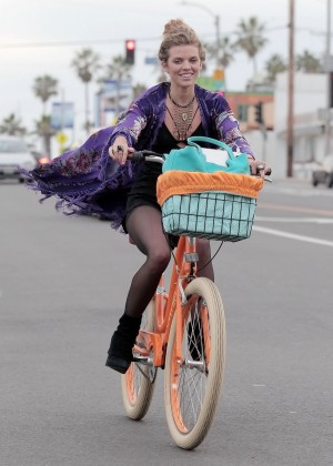 AnnaLynne McCord - Riding a Bike in Venice