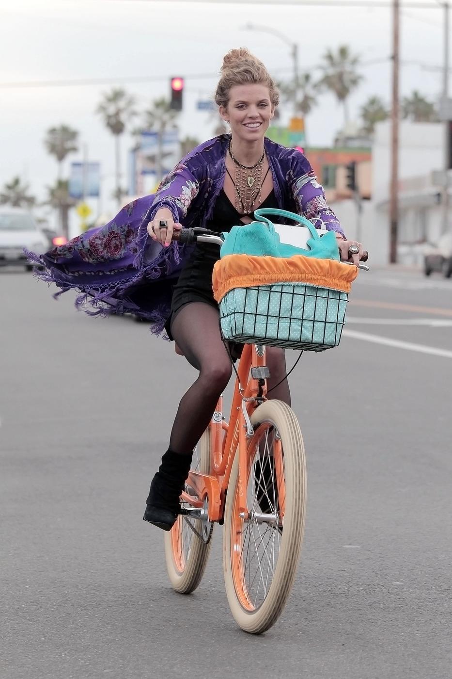 AnnaLynne McCord - Riding a Bike in Venice