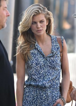 Annalynne McCord shopping on Rodeo Drive in LA