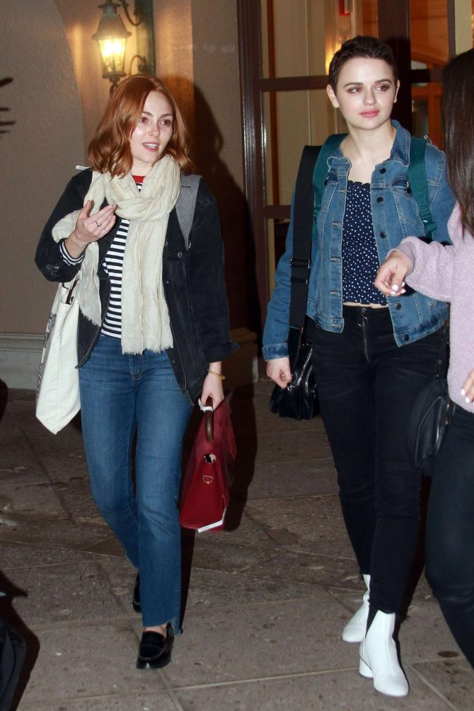 AnnaSophia Robb and Joey King at Langhams hotel in Los Angeles