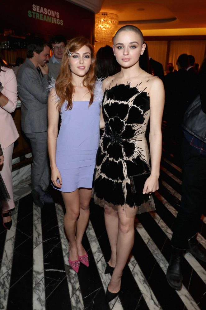 AnnaSophia Robb and Joey King - Hulu Holiday Party in Los Angeles