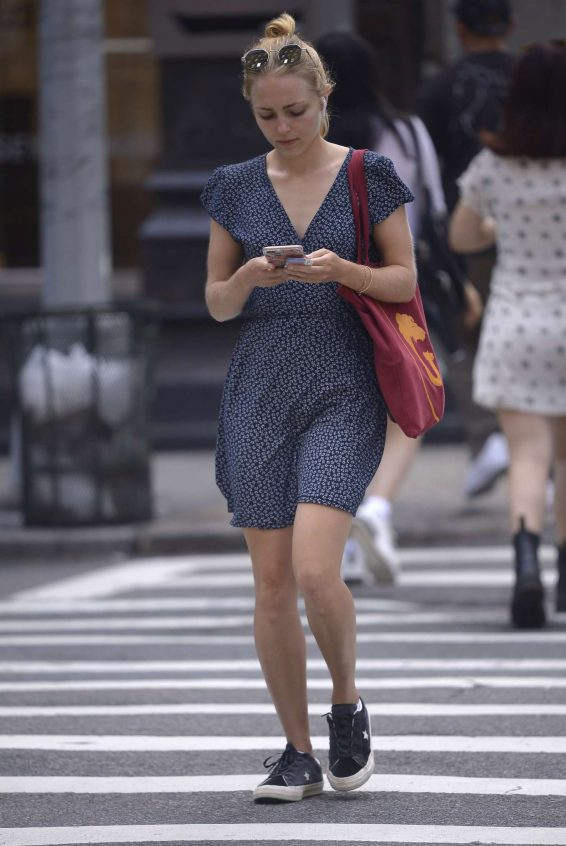 AnnaSophia Robb - In a summer dress out and about in New York