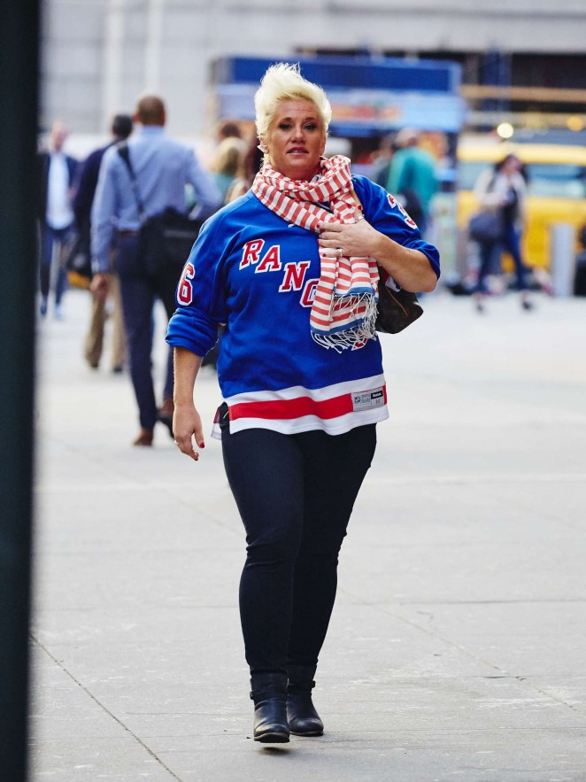 Anne Burrell Attending the New York Rangers Game in NYC