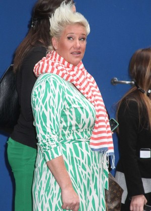 Anne Burrell - Leaving 'Good Morning America' in NYC