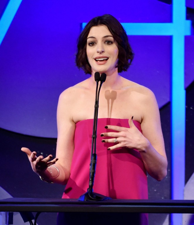 Anne Hathaway - Art Directors Guild Excellence In Production Design Awards 2015 in Beverly Hills