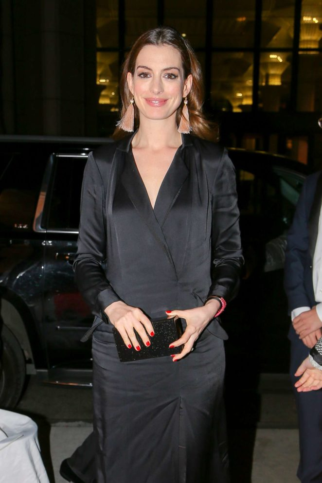 Anne Hathaway - Aarriving at Cipriani in New York City