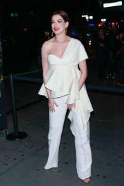 Anne Hathaway - All in white at Prime Video 'Museum Of Modern Love' Pop up event in New York
