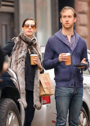Anne Hathaway and Adam Shulman out in NYC