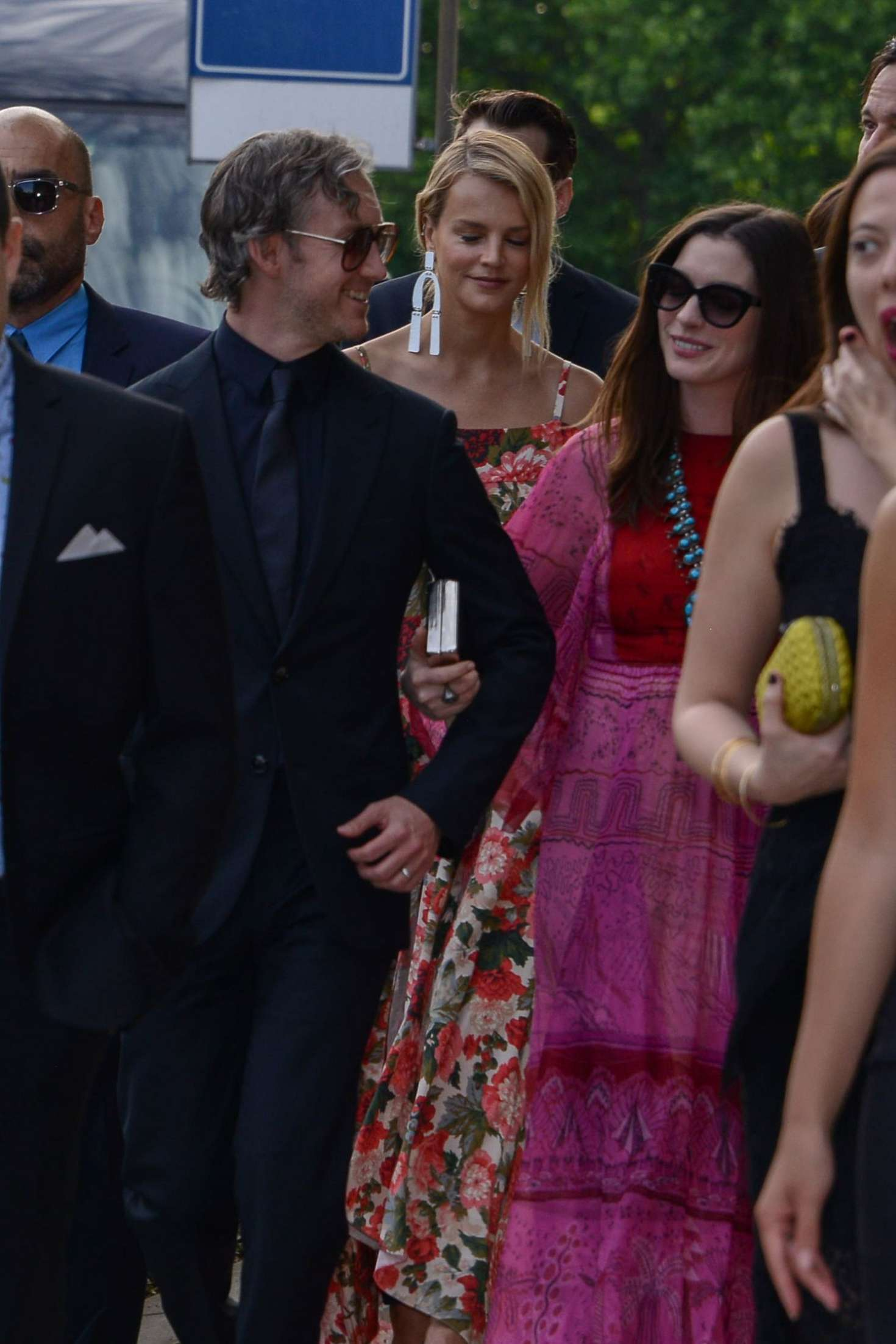 Anne Hathaway and Emily Blunt at Jessica Chastain and Gian Luca ...