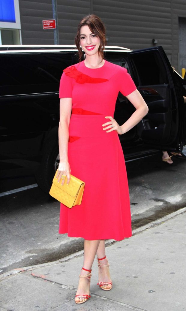 Anne Hathaway at Good Morning America in New York