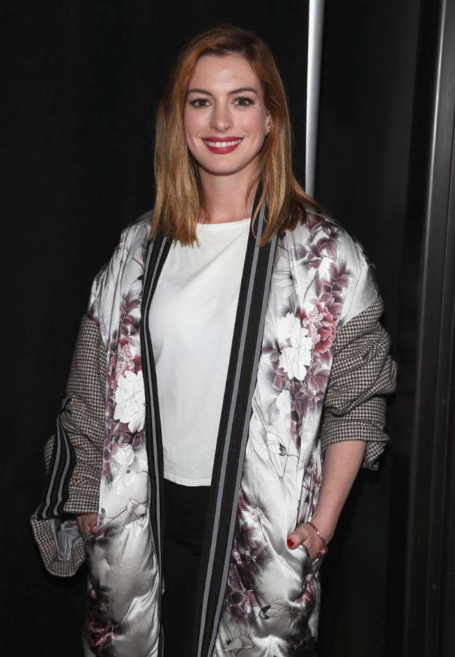 Anne Hathaway - Bosideng Fashion Show in NYC