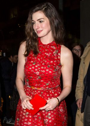 Anne Hathaway - 'Colossal' Premiere After-Party in New York City