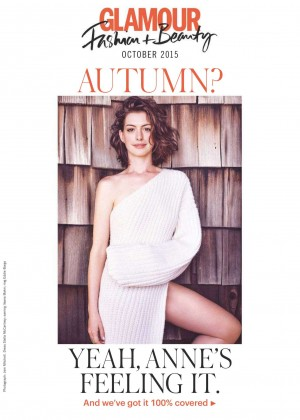 Anne Hathaway - Glamour UK Magazine (October 2015) adds