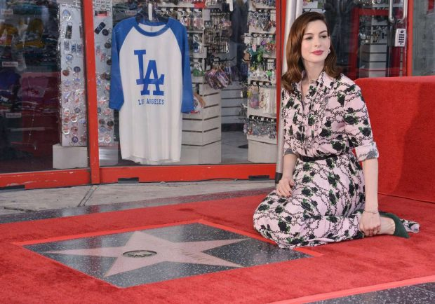 Anne Hathaway: Honored with a Star on the Hollywood Walk of Fame -04