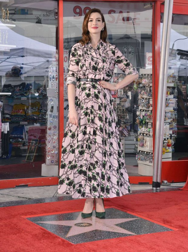 Anne Hathaway: Honored with a Star on the Hollywood Walk of Fame -06