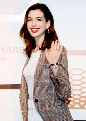 Anne Hathaway - Hudson Yards VIP Grand Opening Event in NYC