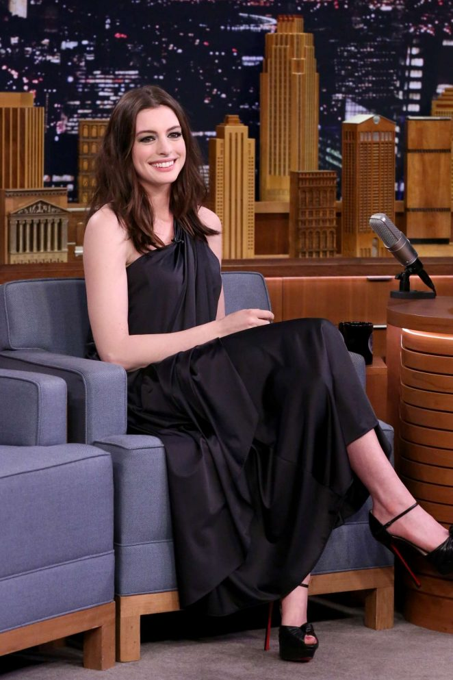 Anne Hathaway on 'The Tonight Show Starring Jimmy Fallon' in NY