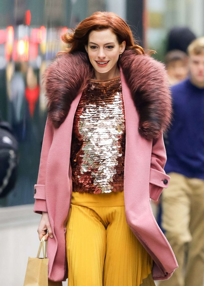 Anne Hathaway - Out and about in New York City