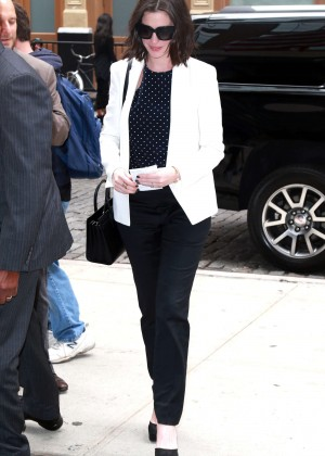 Anne Hathaway out and about in NYC