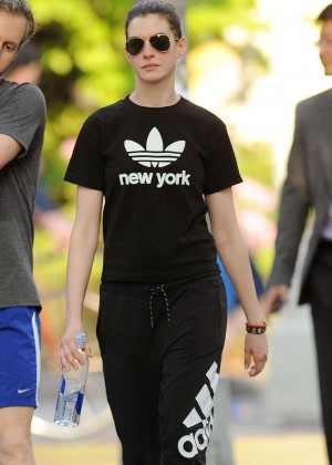 Anne Hathaway - Out and about in NYC