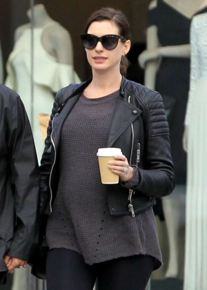 Anne Hathaway out in Beverly Hills