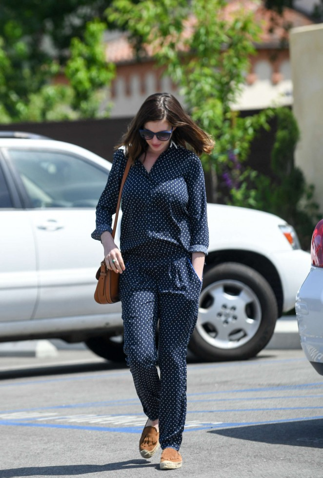 Anne Hathaway out in Los Angeles -04